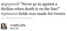 Matt Cutts twitter princess bride quote