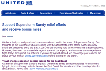 United Hurricane Sandy