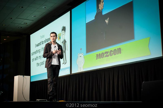 Fabio, a commuity speaker, at MozCon 2012