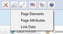 Analyze Page Menu