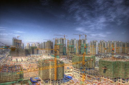 Construction site in Tier II city of Tianjin