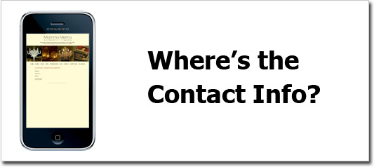 Mobile Contact Info