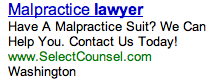 Malpractice Lawyer Ad
