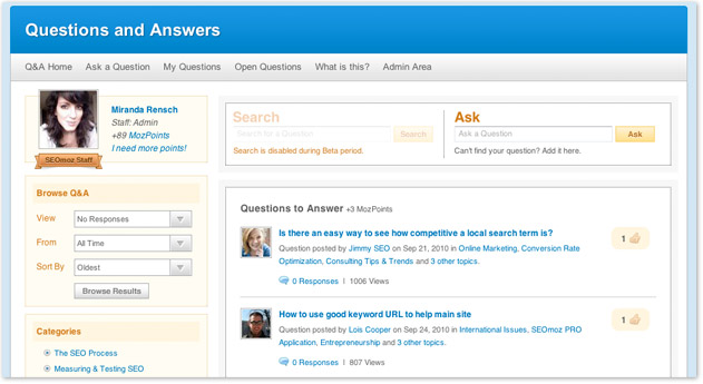 seo questions forum