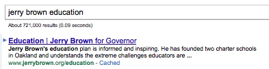 jerry brown search result page for jerry brown education searches