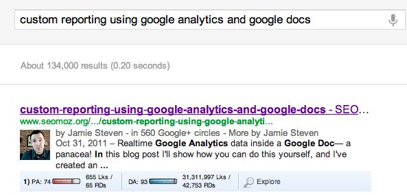 URL displaying in title tag