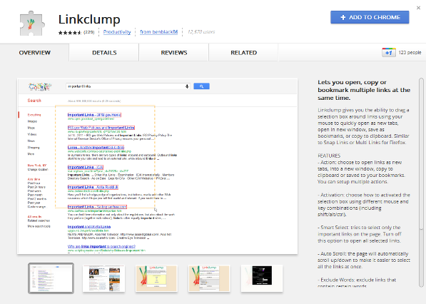 Chrome Link Clump