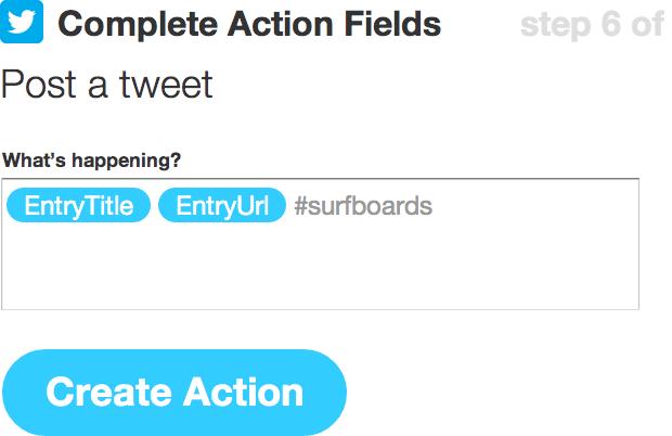 IFTTT Twitter entry