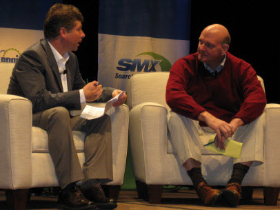 SMX West Keynote Danny Sullivan and Microsoft CEO Steve Ballmer