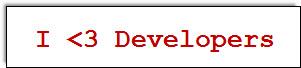 I <3 Developers