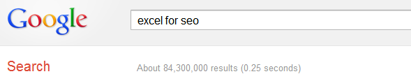 Search for [excel for seo]