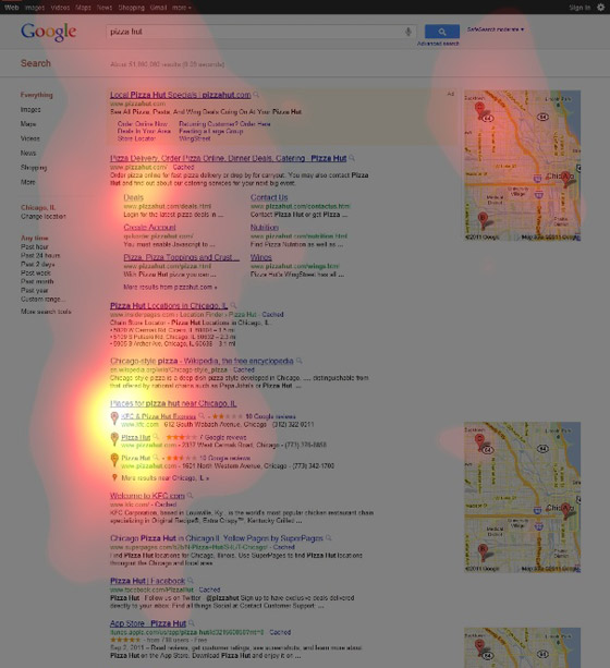 "Eye-tracking data for ""Pizza Hut"""