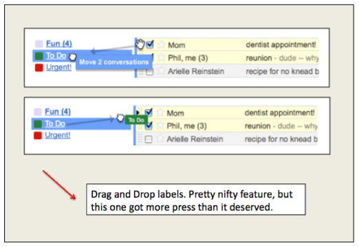 gmail drag and drop feature