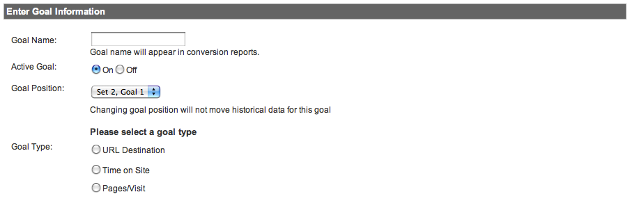 alternate goals google analytics