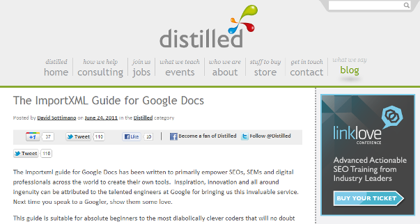 Google Docs Import XML