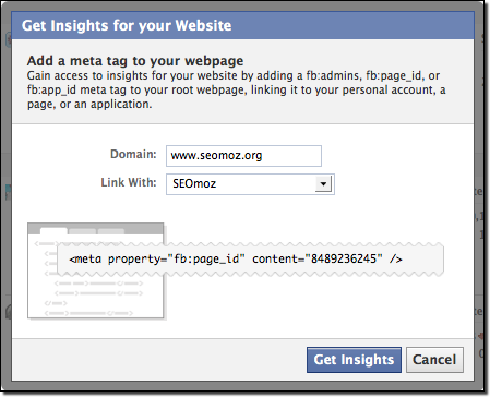 Add Facebook Insights to your website