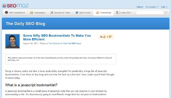 JavaScript Bookmarklets