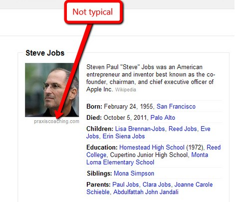 Steve Jobs Knowledge Graph Example