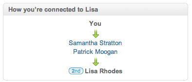 LinkedIn How you're connected