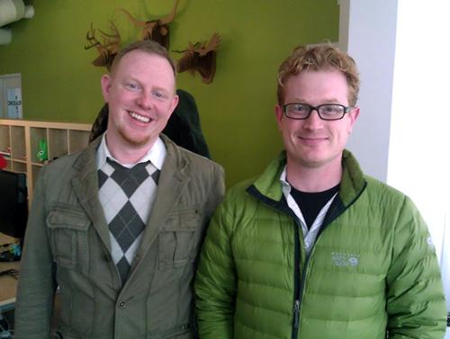 Matt and Tim Visiting the Mozplex