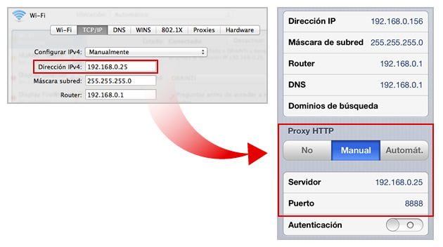 Mobile HTTP Proxy Configuration