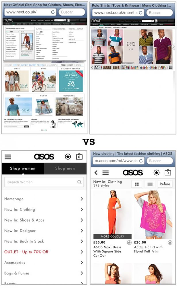 Mobile vs. Non Mobile Optimized Look and Feel