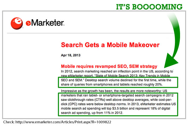 Mobile Search Boom