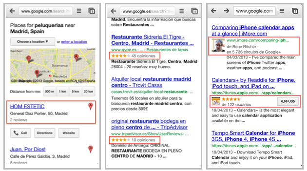 Mobile Search Results Visibility