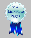 most linked to pages on the internet