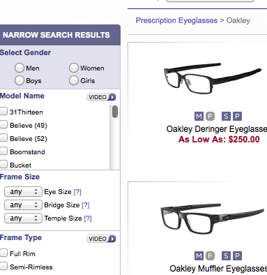 Oakley sunglasses landing page