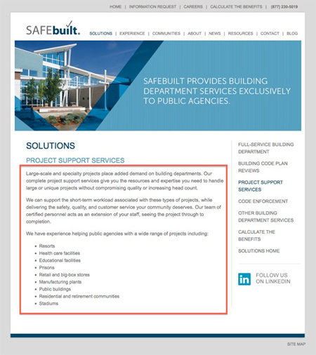 SAFEbuilt Foundational Page Old Example