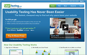 UserTesting.com Screen