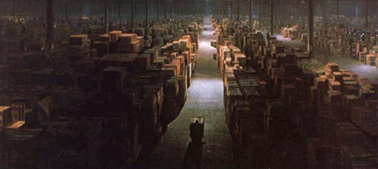 Last frame of Indiana Jones: Raider of the Lost Ark