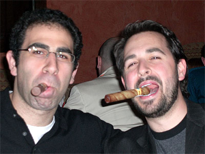 Rand & Eytan Enjoy Cigars at Microsoft's Party during SES NYC 2007