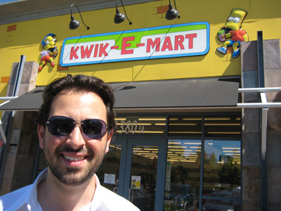 Rand outside the Qwik-E-Mart in Mountain View