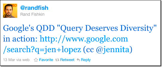 Rand's Tweet about QDD