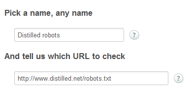 Monitor robots.txt with server density