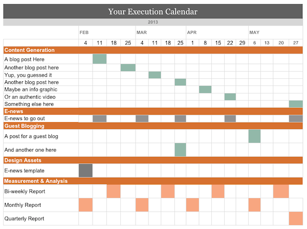 Sample Execution Calendar - Mack Web