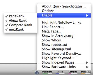 SearchStatus Toolbar