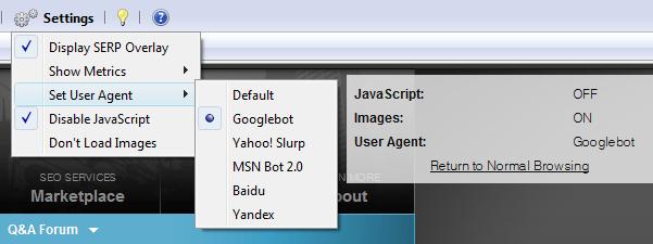 set user agent