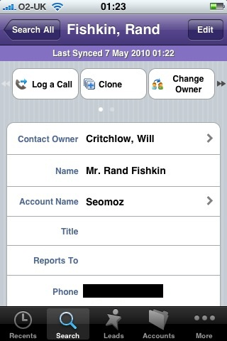 Salesforce for the iPhone