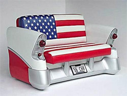 US Flag Car Chair