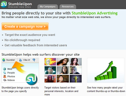 StumbleUpon Advertising