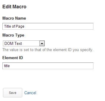 saving a title macro