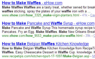How To Make Waffles - Yahoo Search