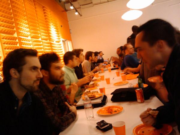 YCombinator Crew Eating Dinner