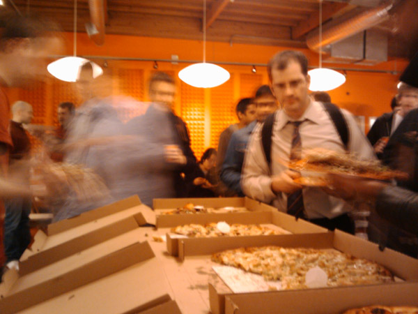 Y Combinator Rush for Pizza