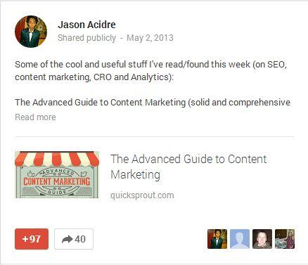 Partage sur Google +