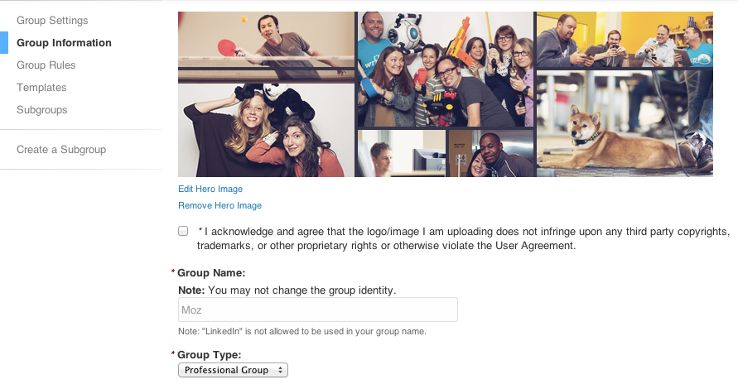 Change that LinkedIn Group name