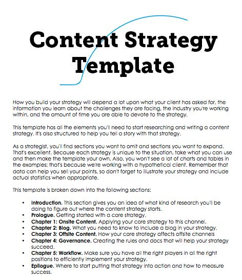 A Content Strategy Template You Can Build On  Frans S Pekasa